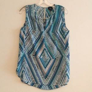 Mossimo Navy & Teal Dressy Tank